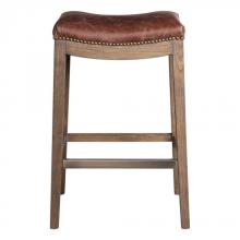 Uttermost 23329 - Uttermost Cochran Leather Bar Stool