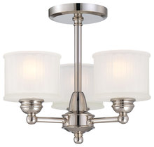 Minka-Lavery 1738-613 - 3 Light Semi Flush Mount