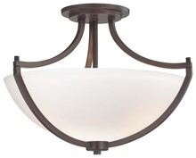 Minka-Lavery 4932-284 - 3 Light Semi Flush Mount