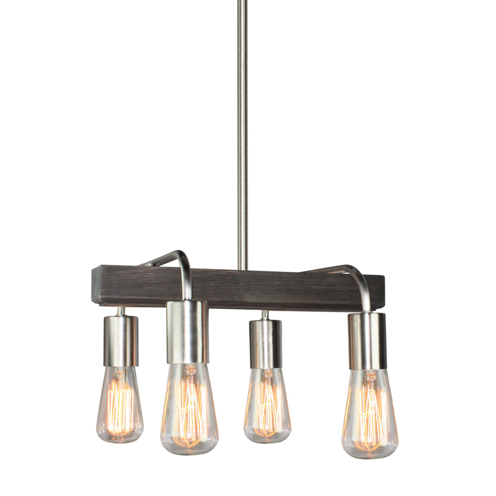 Lynwood 4 Light  Brushed Nickel Island Light