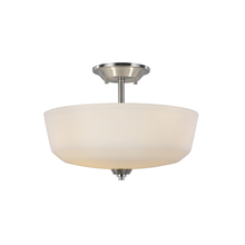 Artcraft AC10468BN - Hudson 3 Light  Brushed Nickel Semi Flush