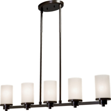 Artcraft AC1315WH - Parkdale 5 Light  Oiled Bronze Island Light