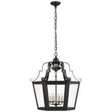 Visual Comfort RL 5553AI - Francoise Large Lantern in Aged Iron with Clear
