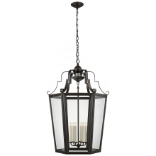 Visual Comfort RL 5554AI - Francoise XLarge Lantern in Aged Iron with Clear