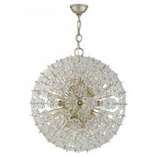 Visual Comfort ARN 5161BSL - Lynn Large Pendant in Burnished Silver Leaf with