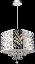 Crystal World 5008P16ST-R - 6 Light Chrome Drum Shade Chandelier from our Eternity collection