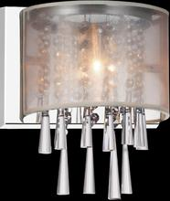 Crystal World 5519W8C-1 (Beige) - 1 Light Bathroom Sconce with Chrome finish
