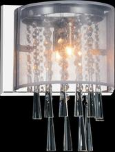 Crystal World 5519W8C-1 (Off White) - 1 Light Bathroom Sconce with Chrome finish
