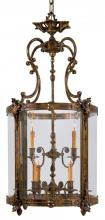 Minka Metropolitan n2342 - Antique Bronze Patina Clear Glass Framed Glass Foyer Hall Fixture