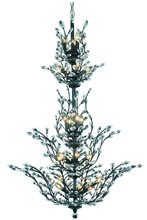 Elegant 2011G54DB/SA - 2011 Orchid Collection Chandelier D:41in H:54in Lt:25 Dark Bronze Finish (Spectra� Swarovski� Crysta