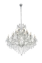 Elegant 2800G44C/SA - 2800 Maria Theresa Collection Chandelier D:44in H:44in Lt:37 Chrome Finish (Spectra� Swarovski� Crys