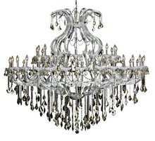 Elegant 2800G72C-GT/RC - 2800 Maria Theresa Collection Chandelier D:72in H:60in Lt:49 Chrome Finish (Royal Cut Crystals)