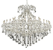 Elegant 2800G72C/EC - 2800 Maria Theresa Collection Chandelier D:72in H:60in Lt:49 Chrome Finish (Elegant Cut Crystals)