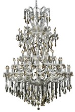 Elegant 2801G54C-GT/RC - 2801 Maria Theresa Collection Chandelier D:54in H:72in Lt:61 Chrome Finish (Royal Cut Crystals)