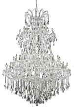 Elegant 2801G54C/RC - 2801 Maria Theresa Collection Chandelier D:54in H:72in Lt:61 Chrome Finish (Royal Cut Crystals)