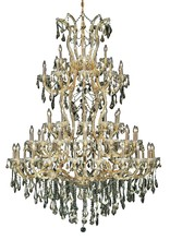 Elegant 2801G54G-GT/RC - 2801 Maria Theresa Collection Chandelier D:54in H:72in Lt:61 Gold Finish (Royal Cut Crystals)