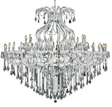 Elegant 2801G72C/RC - 2801 Maria Theresa Collection Chandelier D:72in H:60in Lt:49 Chrome Finish (Royal Cut Crystals)