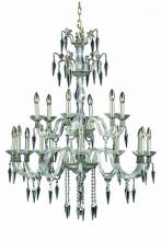 Elegant 5818G36PW/SS - 5818 Grande Collection  Large Hanging Fixture D36in H43in Lt:18 Pewter Finish (Swarovski� Elements C