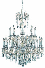 Elegant 9224G36PW/EC - 9224 Rosalia Collection Chandelier D:36in H:43in Lt:24 Pewter Finish (Elegant Cut Crystals)