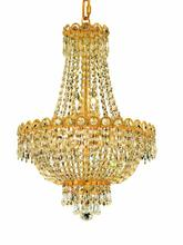 Elegant V1900D16G/RC - 1900 Century Collection Pendant D:16in H:22in Lt:8 Gold Finish (Royal Cut Crystals)