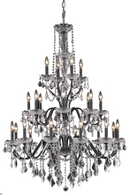 Elegant V2015G36DB/SS - 2015 St. Francis Collection Chandelier D:36in H:49in Lt:24 Dark Bronze Finish (Swarovski� Elements C