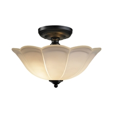 ELK Lighting 66380/3 - Flushmounts 3 Light Semi Flush In Matte Black